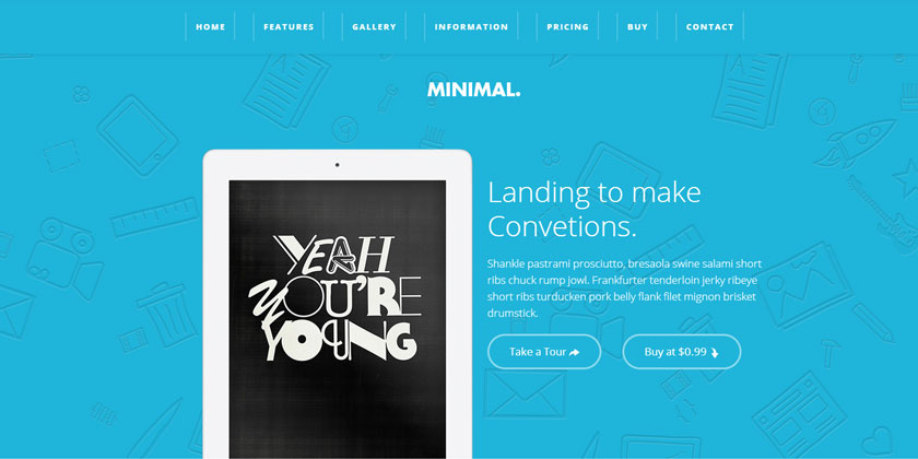 Book Landing Page Template Ipad Landing Page Template